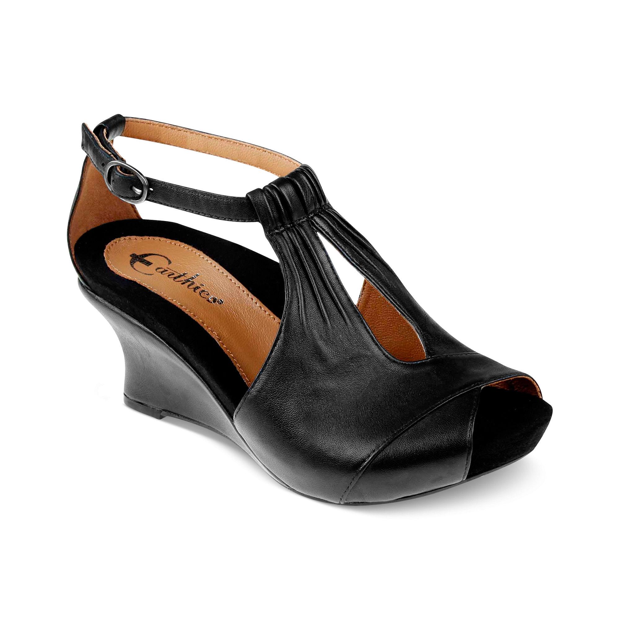 earthies veria 3 wedge sandals in black lyst