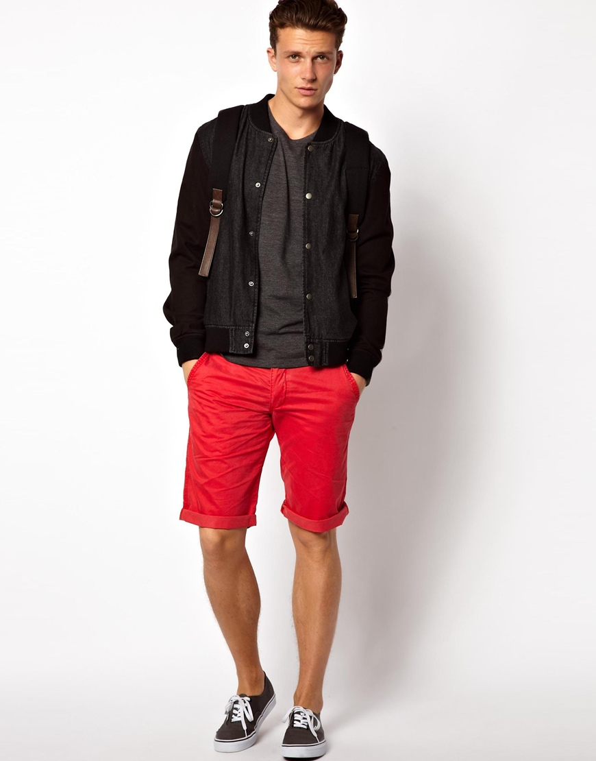 Esprit Chino Shorts in Red for Men   Lyst