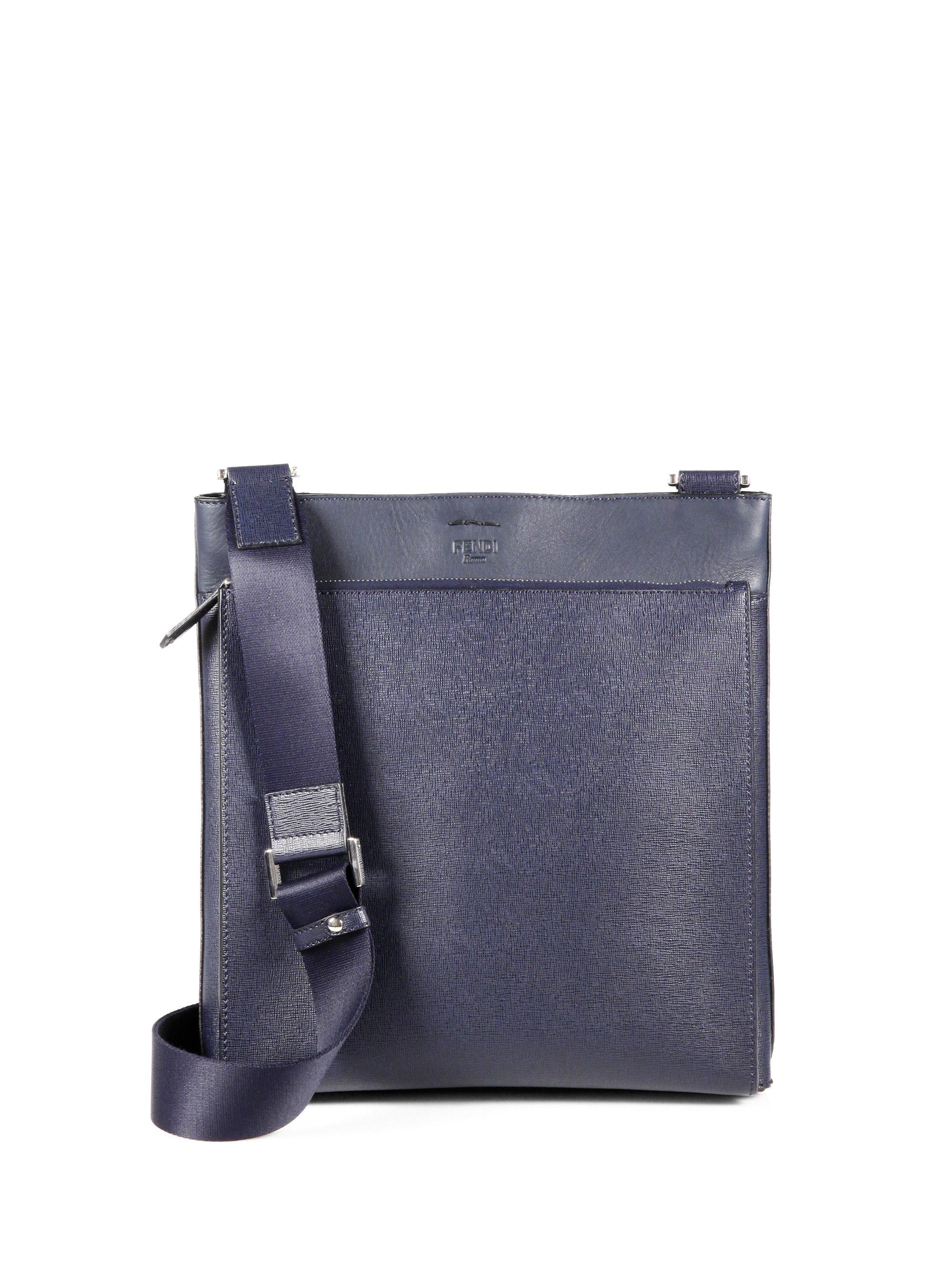 06347f7b384a Lyst - Fendi Flat Crossbody Bag in Blue for Men