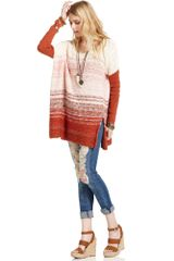 Free People Long-sleeve Striped Boxy Sweater - Lyst