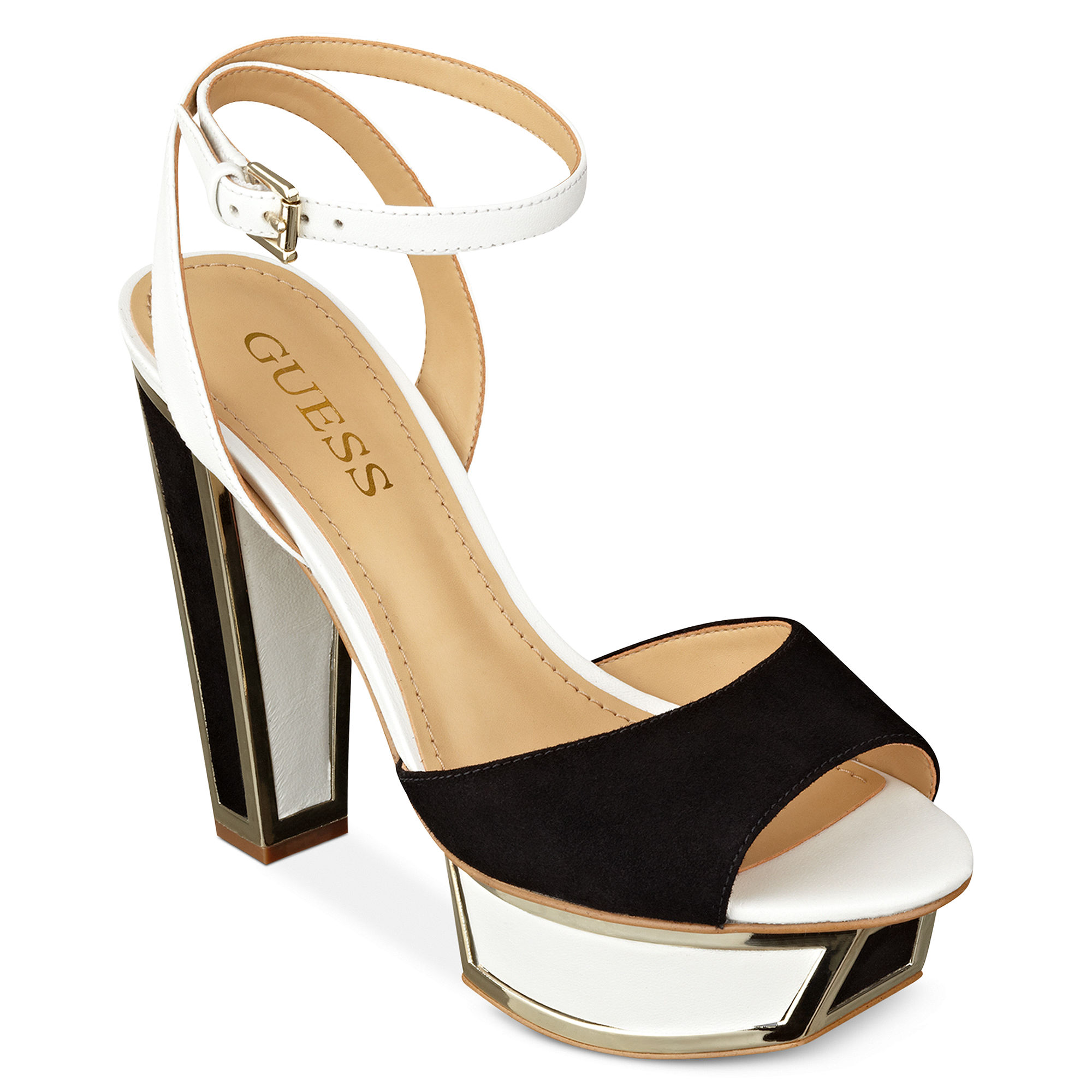 Creative Please Enable Javascript And Refresh The Page These Essential Tstrap Sandals Feature An Enamel Logo Plaque With Rhinestones And Goldtone Details Finished With A Corkinspired Insole And An Adjustable Ankle Strap With Buckle