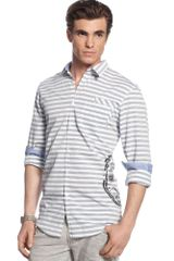 Inc International Concepts Immortal Stripe Long Sleeve Shirt - Lyst