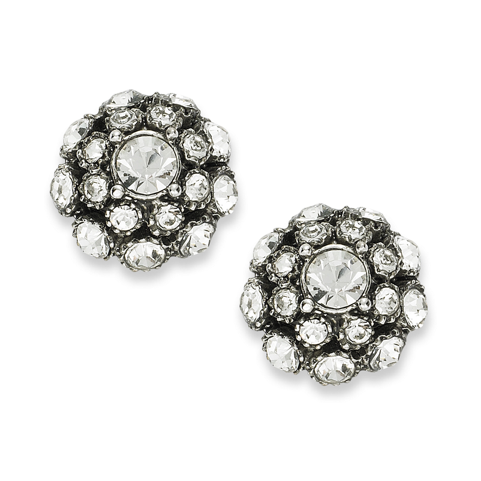 img the in pearl grams is three stud earrings diamond weighs vintage antique a triangle this pair of white gold sold