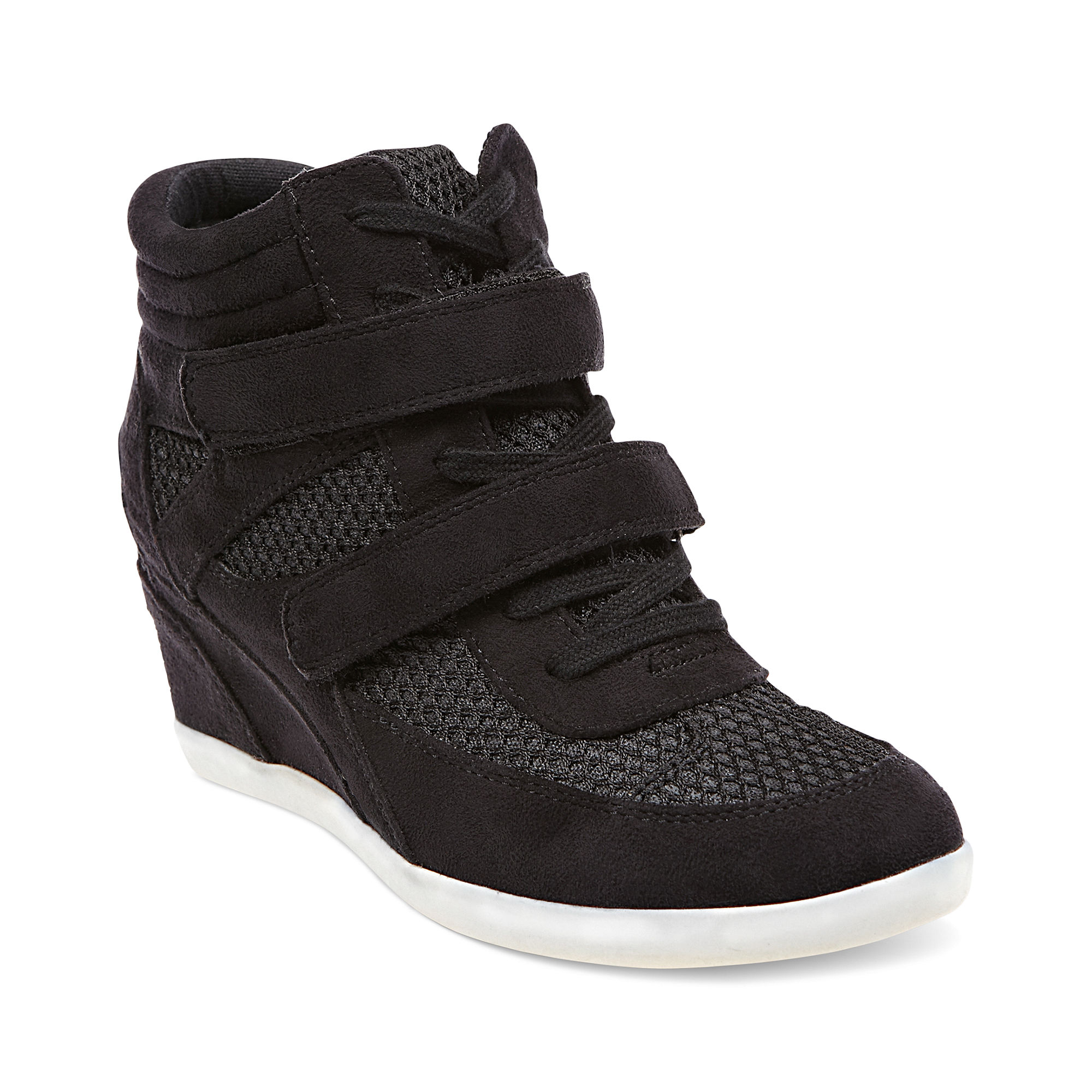 64a97fe19c9 Lyst - Madden Girl Hickory Wedge Sneakers in Black