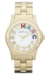 Marc By Marc Jacobs Womens Rivera Gold Ion Plated Stainless Steel Bracelet 40mm - Lyst