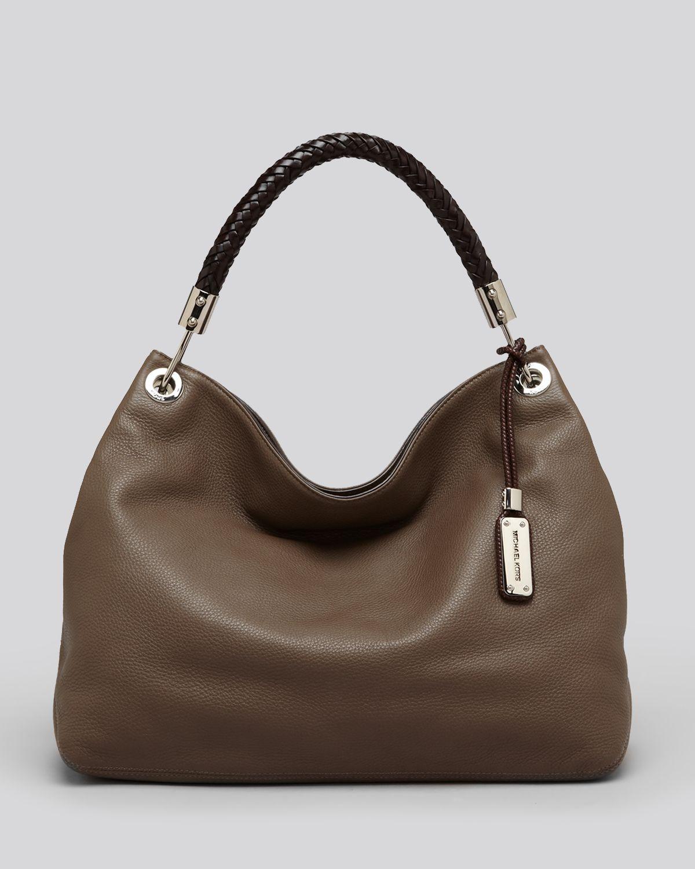 Lyst - Michael Kors Skorpios Shoulder Bag in Brown