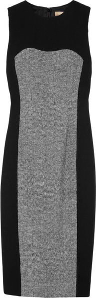 Michael Kors Tweedpanel Dress in Black
