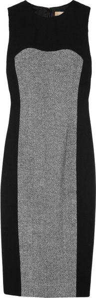 Michael Kors Tweedpanel Dress in Black