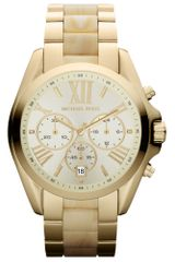 Michael Kors Womens Chronograph Bradshaw Horn and Goldtone Stainless Steel Bracelet 43mm - Lyst