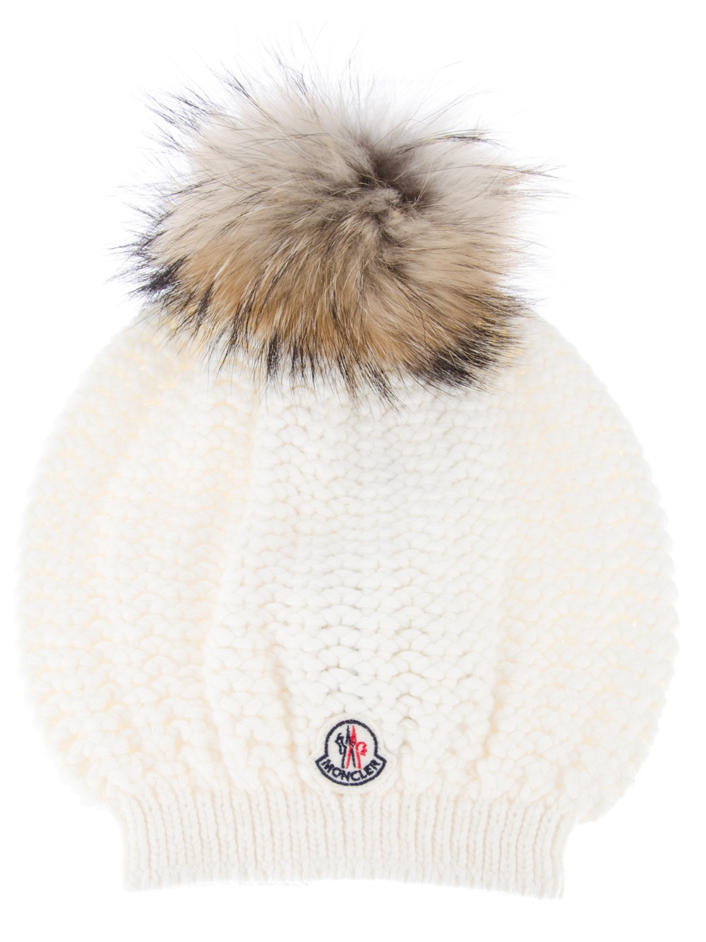 Lyst - Moncler Fur Bobble Hat in White ce016abb50