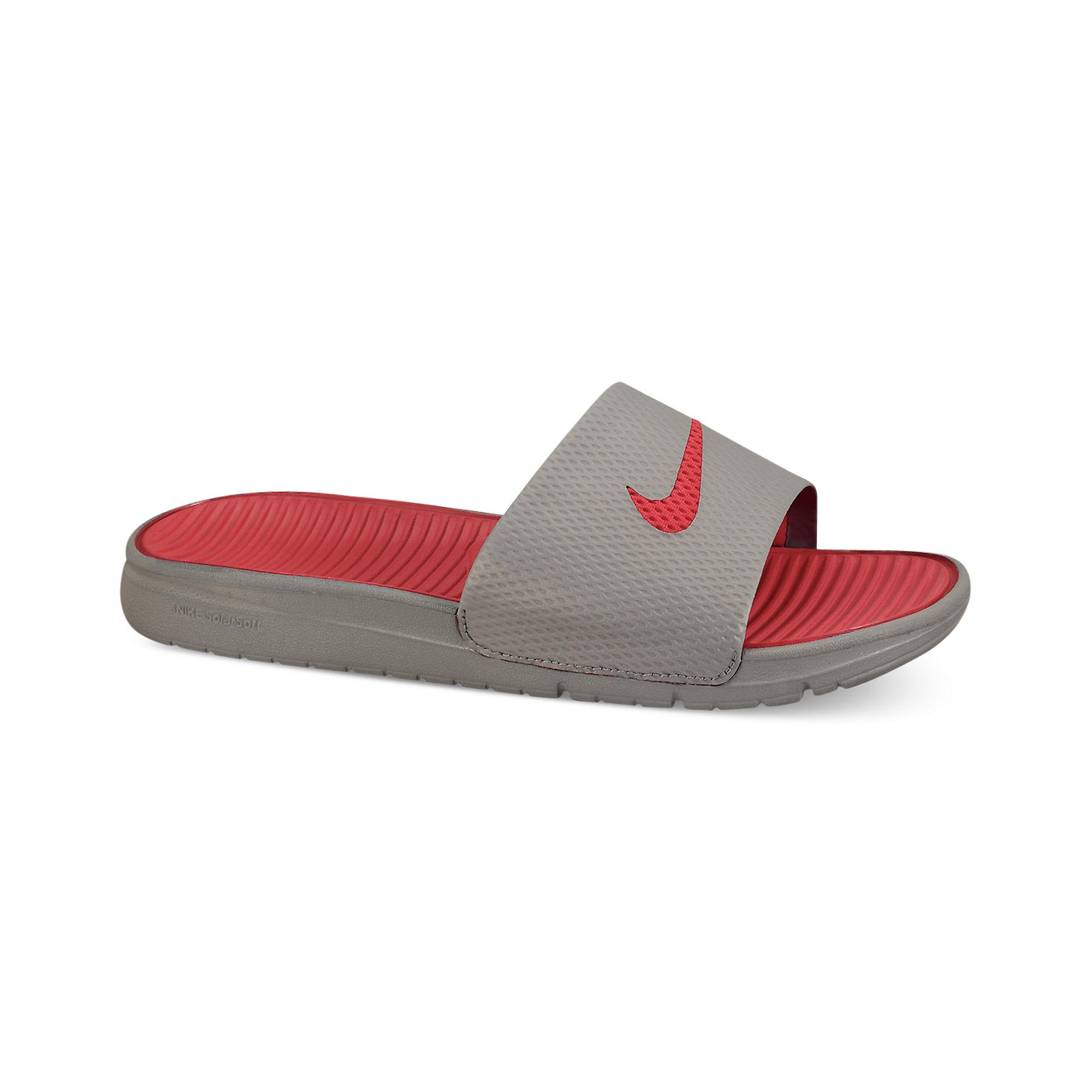 Lyst Nike Benassi Solarsoft Slides In Gray For Men