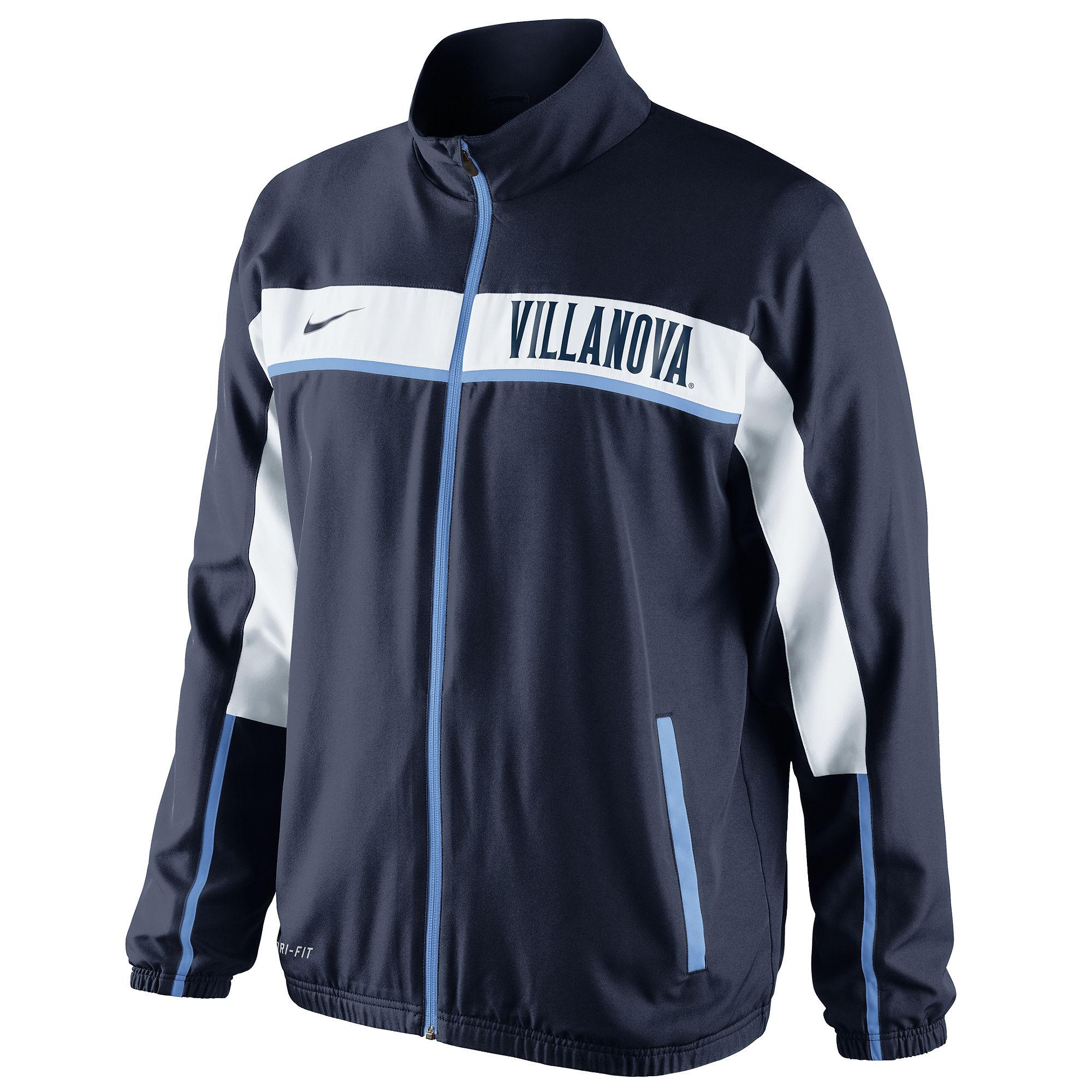 Nike Villanova Wildcats Basketball Game Jacket In Black