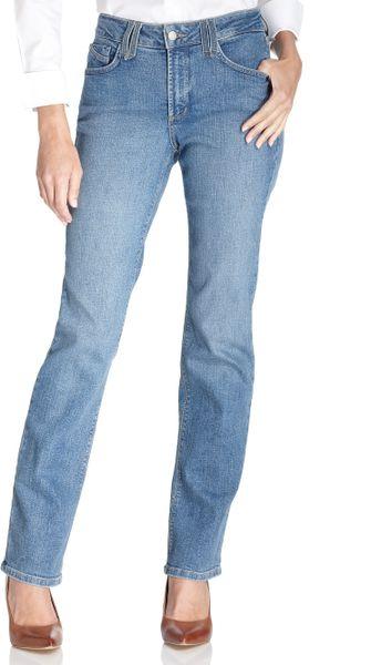 nydj nydj hayden straight leg jeans montreal wash in blue. Black Bedroom Furniture Sets. Home Design Ideas