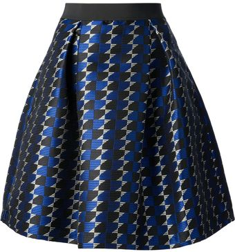 P.a.r.o.s.h. Full Printed Skirt - Lyst