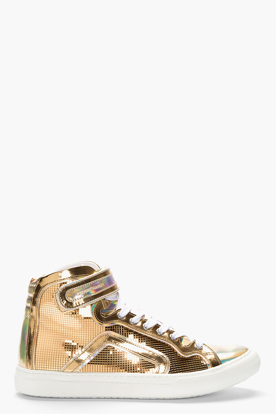 Lyst Pierre Hardy Metallic Gold Leather Disco High Top