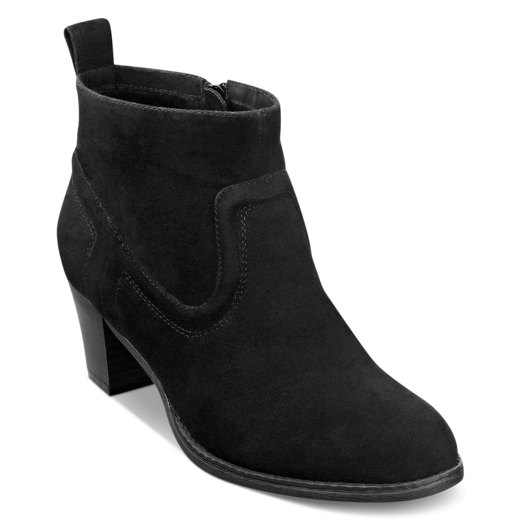 pink and pepper duster booties in black lyst