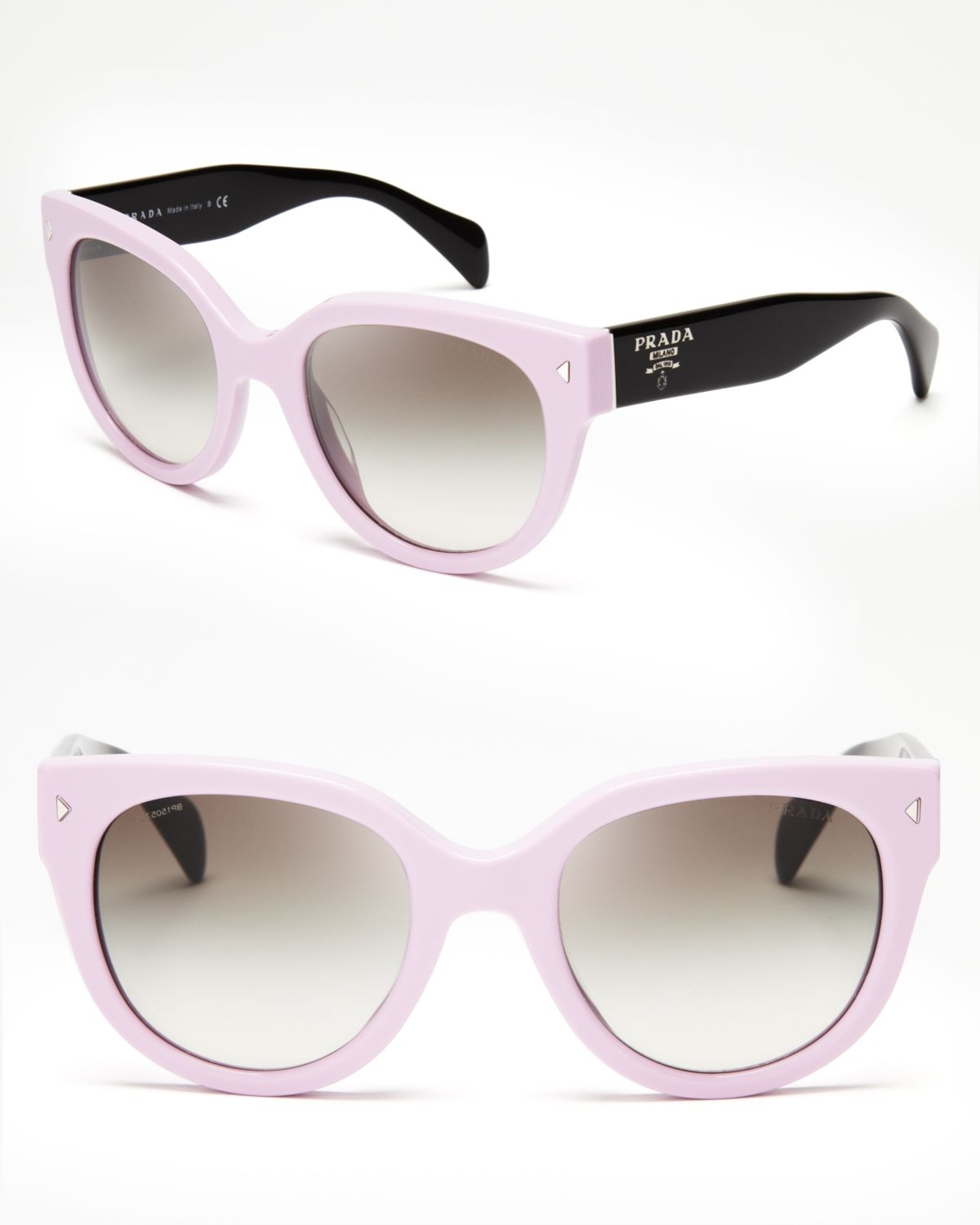 9fdfe23aa7 Lyst - Prada Timeless Heritage Triangle Logo Sunglasses in Pink