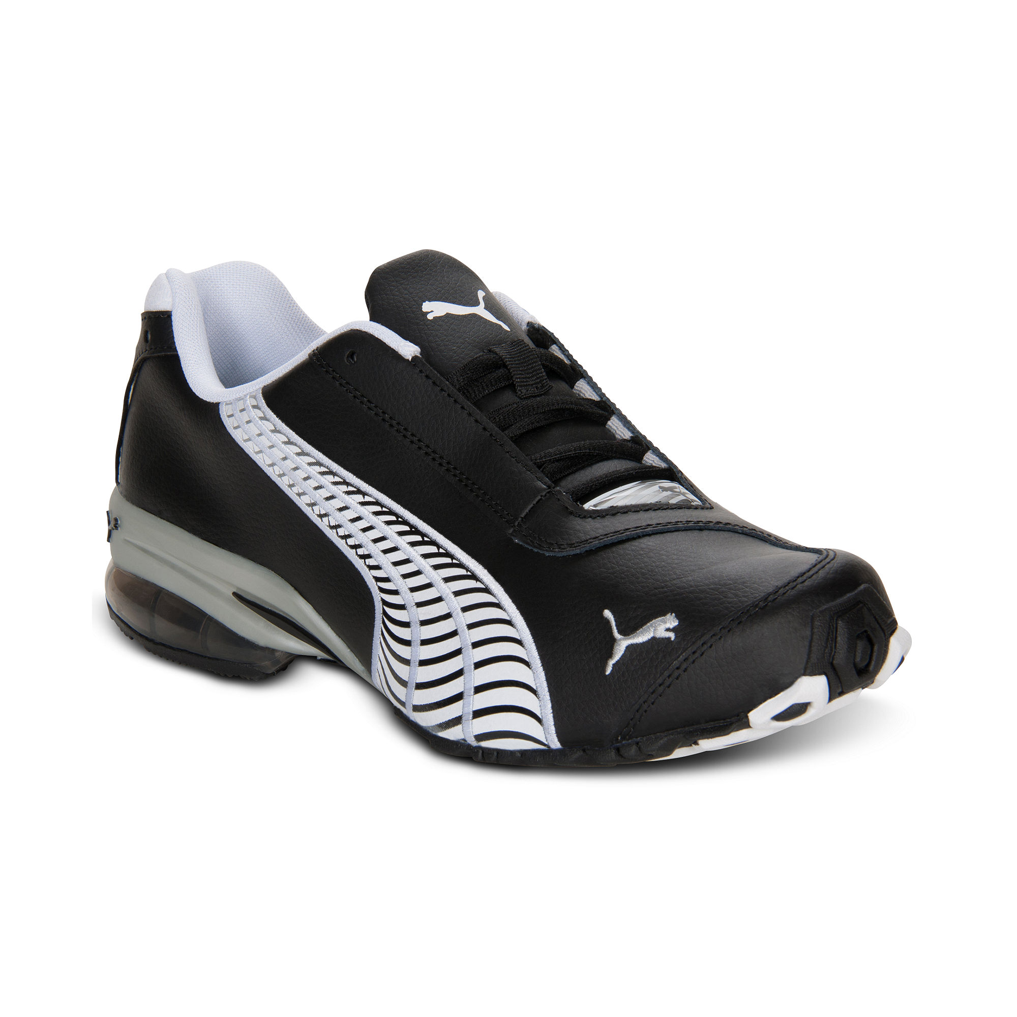 Puma Black Silver Shoes