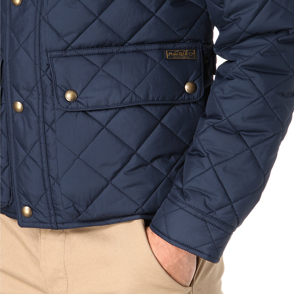 Ralph Lauren Cadwell Quilted Bomber Jacket In Blue For Men Lyst