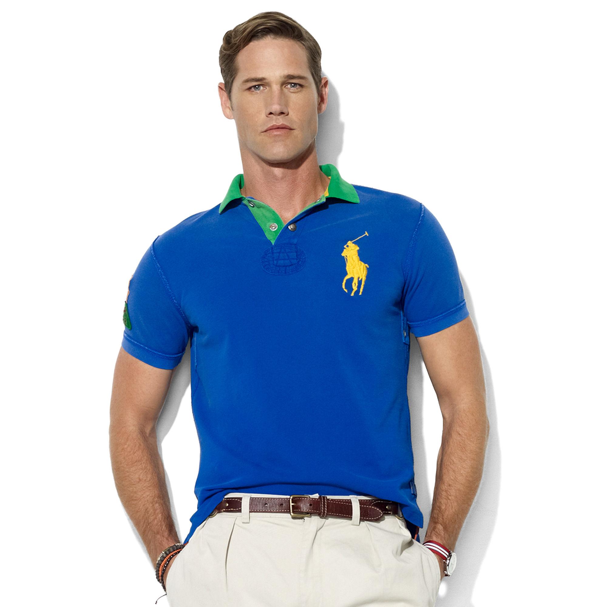 Ralph Lauren Classic Fit Short Sleeve Contrast Collar Mesh