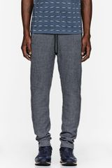 Robert Geller Grey Wool Lounge Pants - Lyst