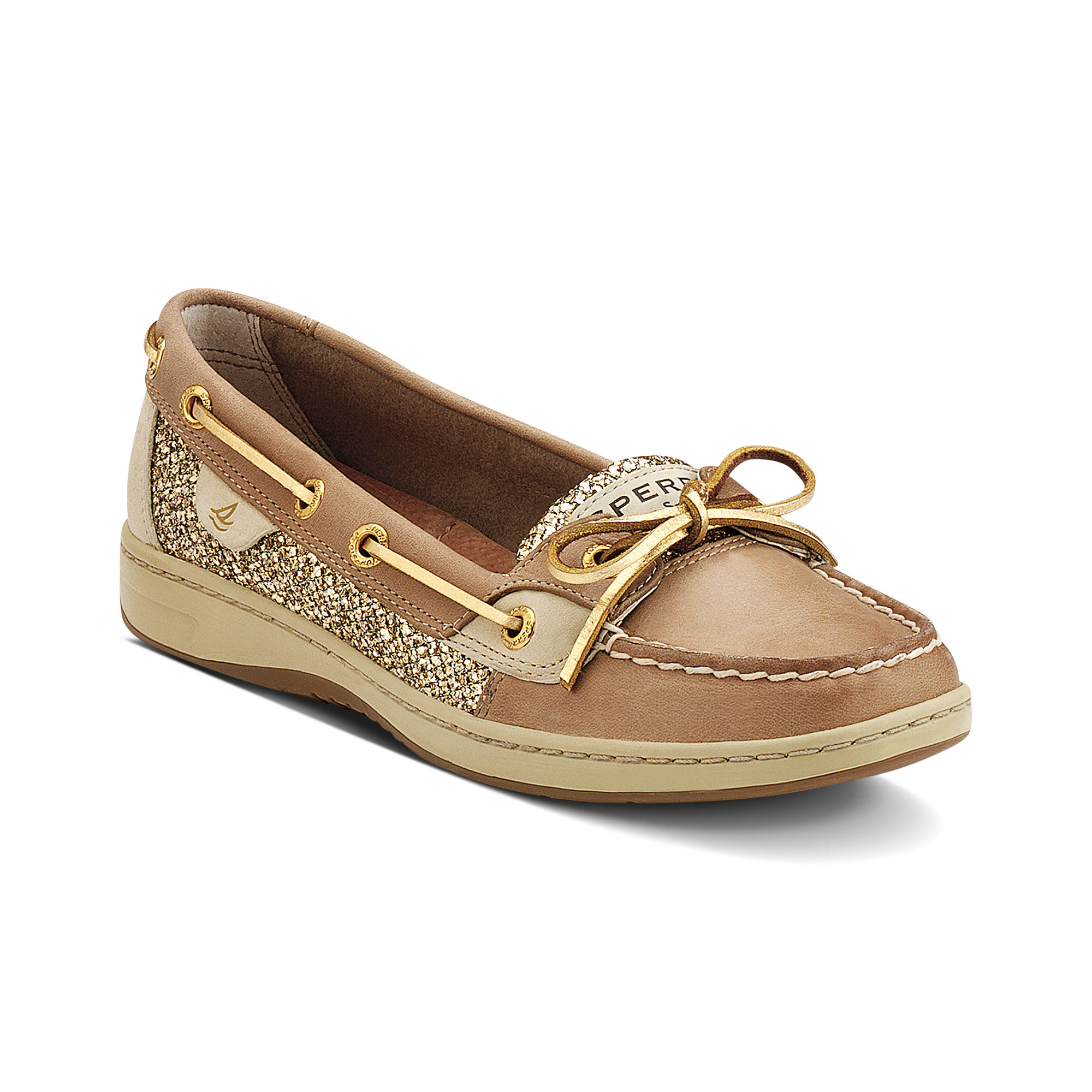 sperry top sider angelfish boat shoes in brown lyst