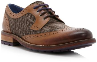Ted Baker Guri Tweed Heavy Tweed Brogue - Lyst