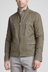 Theory Cotton Twill Zip Front Jacket  - Lyst
