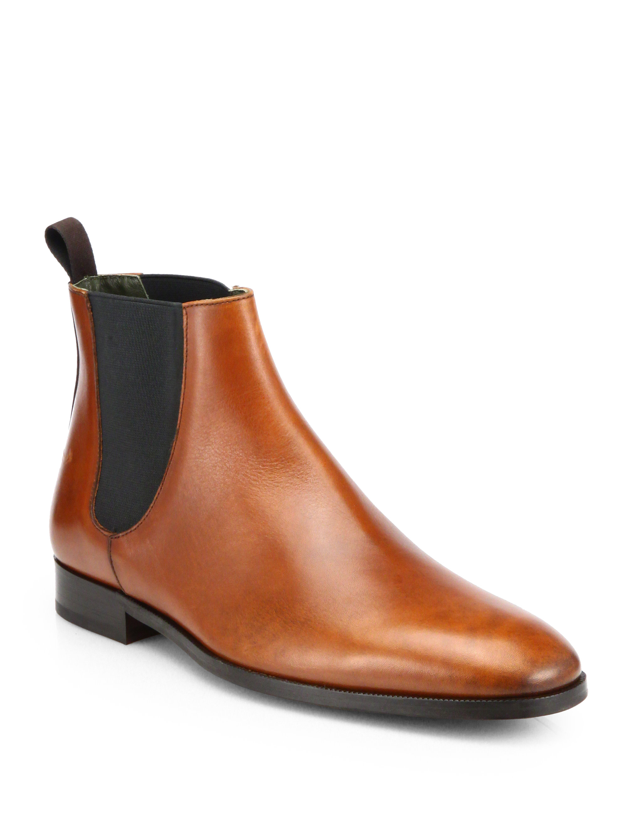 to boot brent leather chelsea boots in brown for men lyst. Black Bedroom Furniture Sets. Home Design Ideas