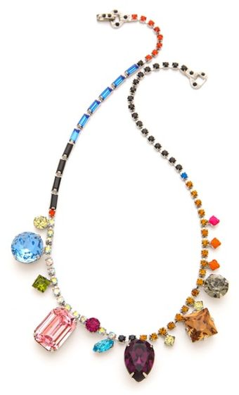 Tom Binns Multi Size Crystal Necklace - Lyst