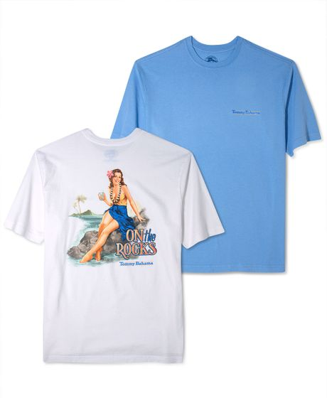 Tommy Bahama On The Rocks Graphic T Shirt In Blue For Men