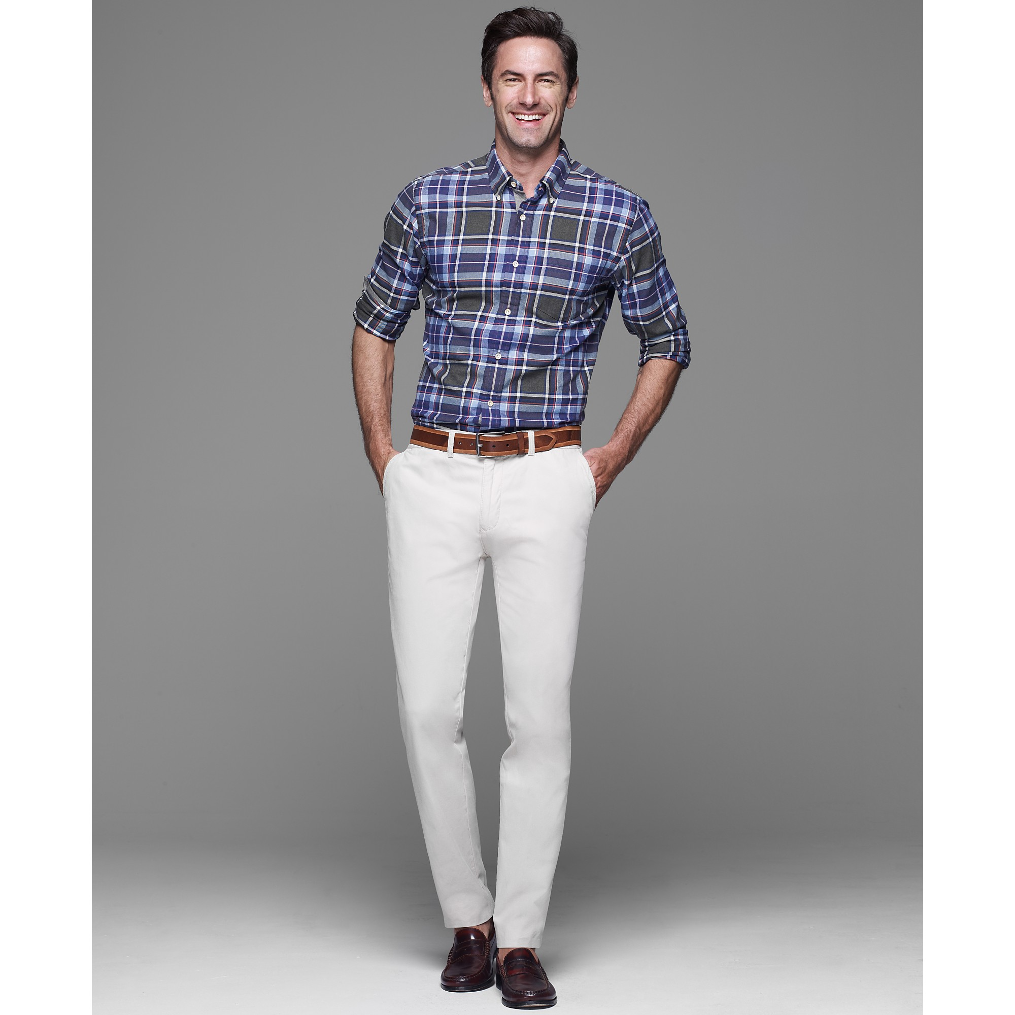Tommy hilfiger Graduate Slim Fit Chino Pants in White for Men | Lyst