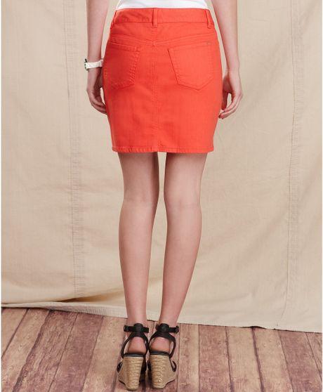 hilfiger skirt pencil colored denim paprika wash in