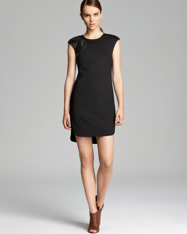 Trina turk Dress Missy Ponte in Black - Lyst