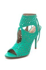 Aquazzura Sexy Star Perforated Sandals - Lyst