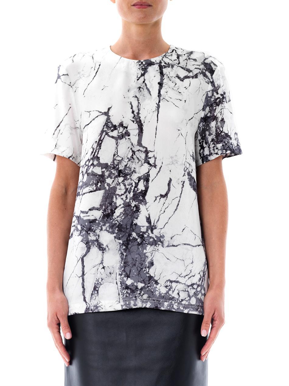 Printed silk top Balenciaga Footlocker Pictures Cheap Price Latest Online Geniue Stockist Sale Online Sunshine xTWnhhwOW
