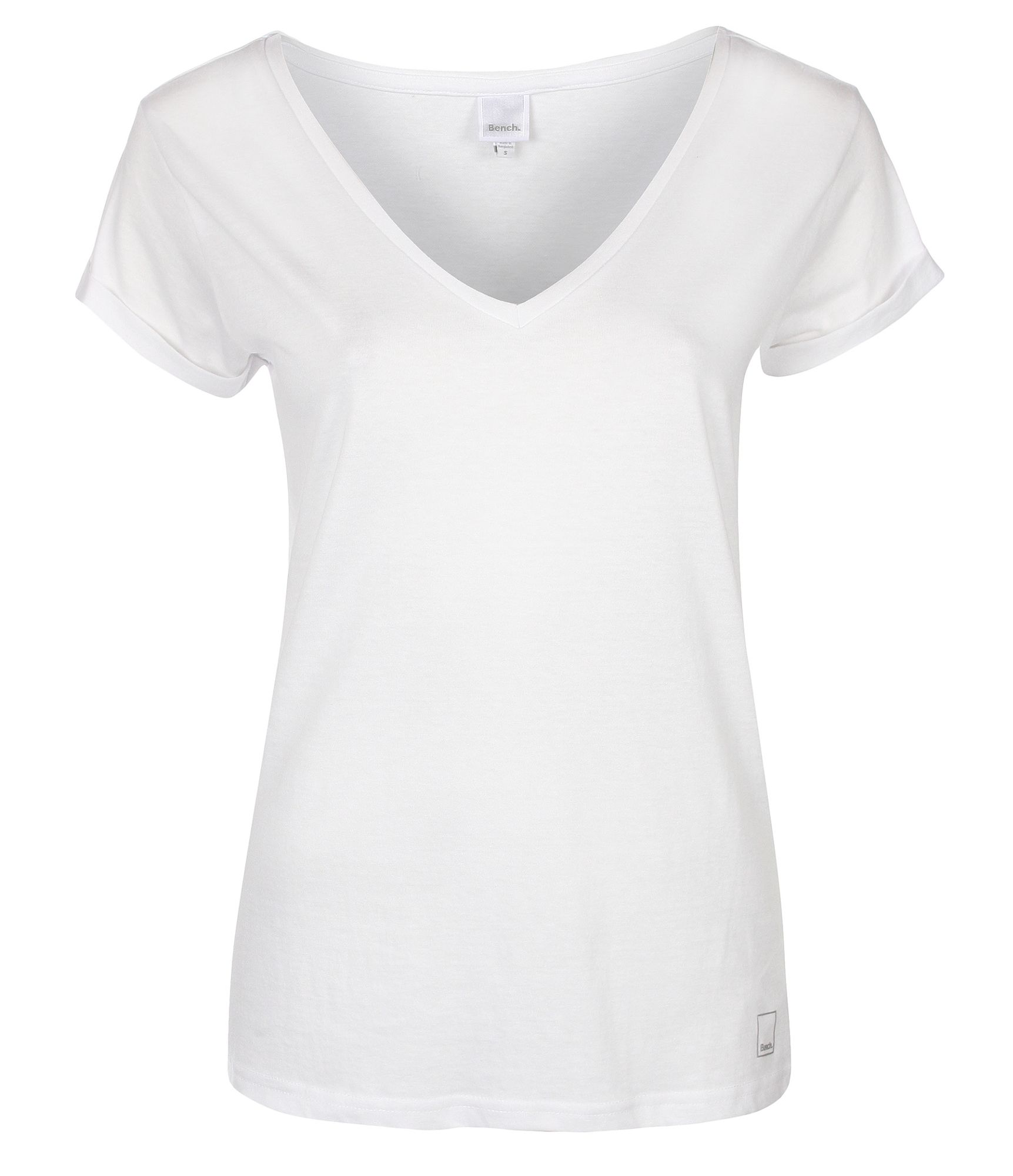Lyst - Bench Womens The V Tee V Neck T-Shirt In White-1182