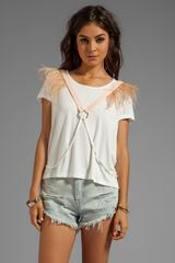 Blessed Are The Meek Love Triangle Top in White - Lyst