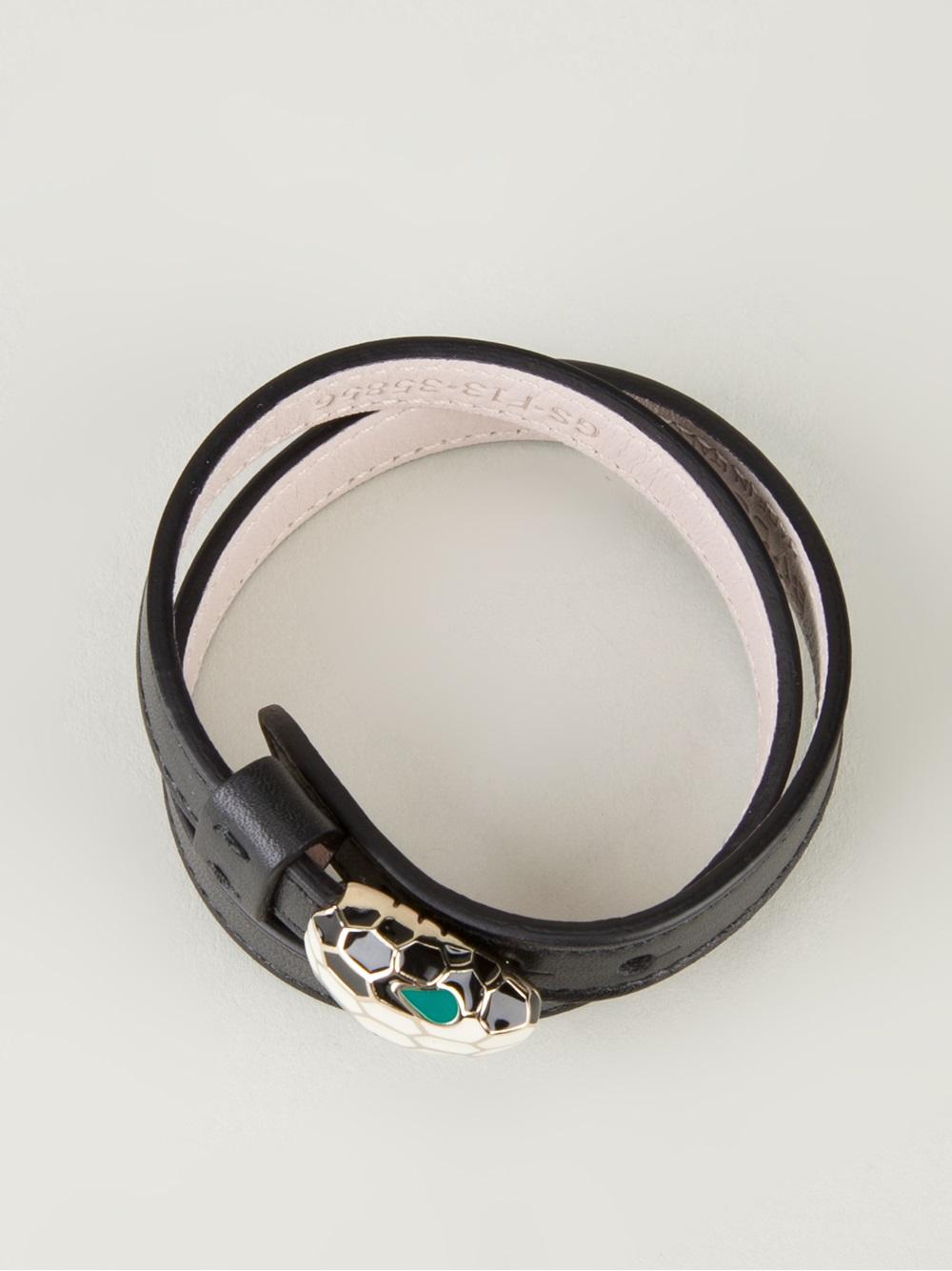 Lyst Bvlgari Serpenti Bracelet In Black