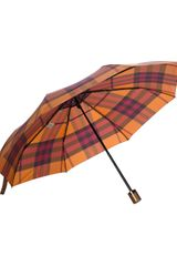 Burberry Checked Umbrella - Lyst