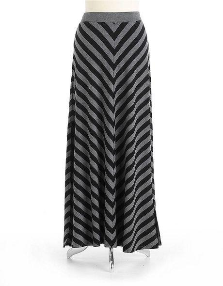 calvin klein performance chevron striped maxi skirt in