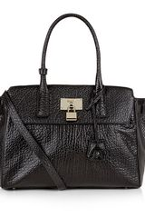 DKNY French Grain Leather Satchel - Lyst