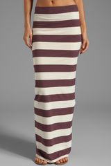 Free People Stripe Column Maxi Skirt in Wine - Lyst
