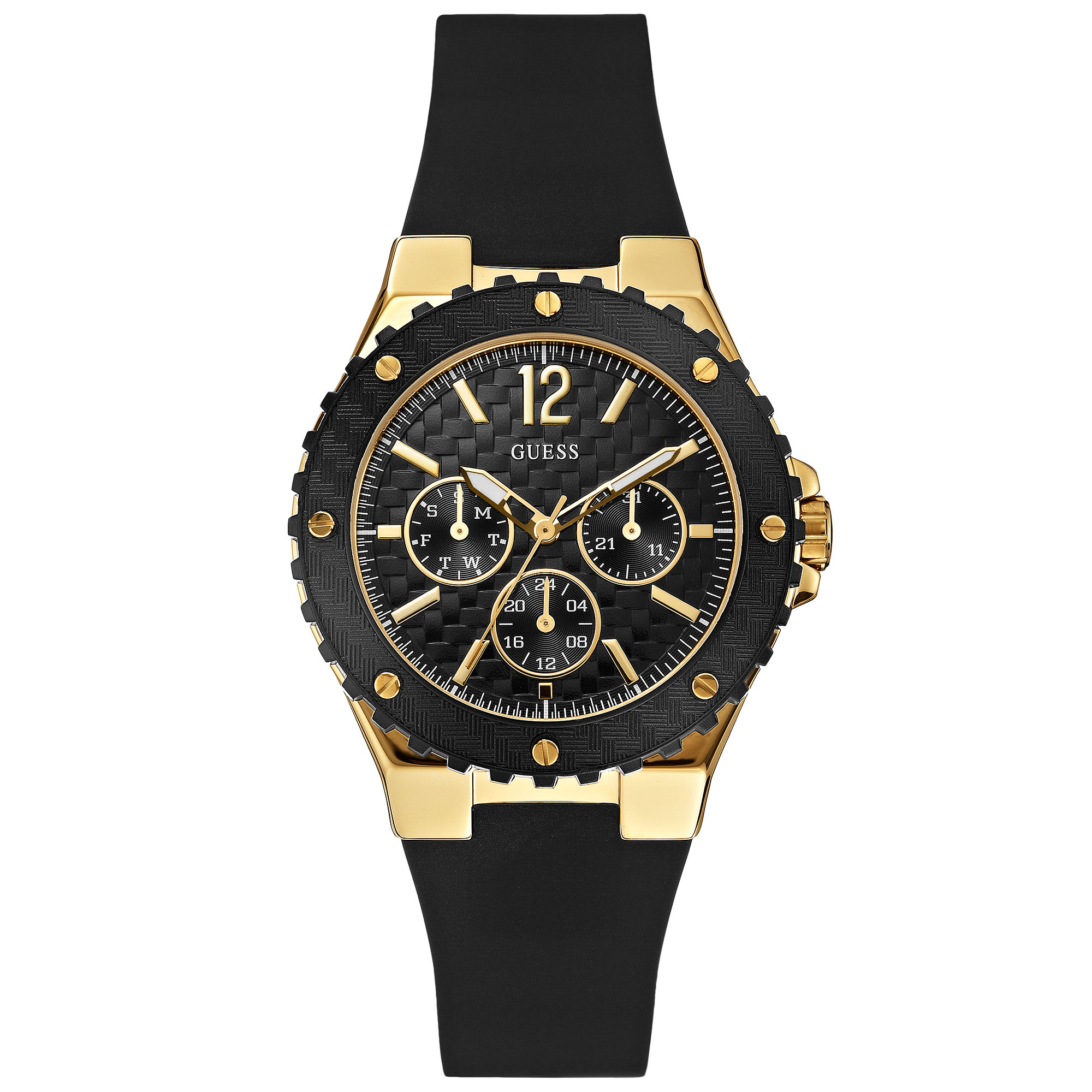 d5eb8c8997a5 ... Strap Watch  Black Rubber GUESS Watches  Guess Watches for Women  Lyst   Guess ...