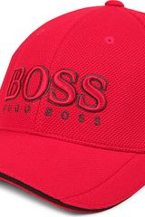 Hugo Boss Textured Logo Baseball Cap - Lyst