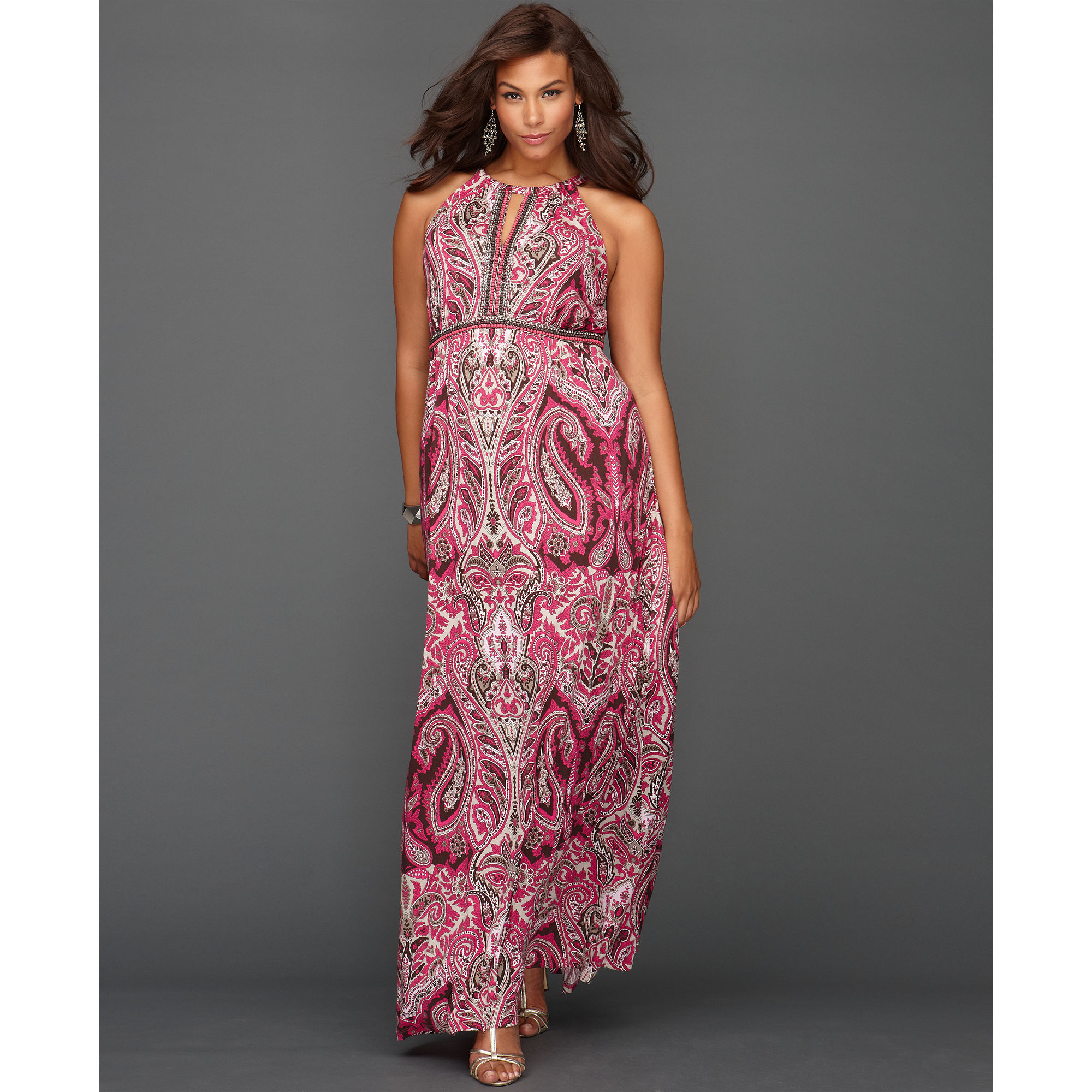 Lyst Inc International Concepts Halter Paisleyprint Maxi In Pink