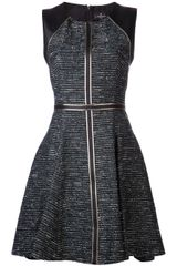 J. Mendel Godet Sleeveless Dress - Lyst