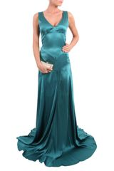 John Galliano Sumptuous Jade Pleated Gown - Lyst