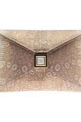 Kara Ross Lizard Prunella Envelope Clutch - Lyst
