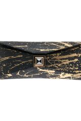 Kara Ross Lizard Stretch Prunella Clutch - Lyst